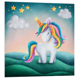 Foam board print  Cute unicorn - Elena Schweitzer