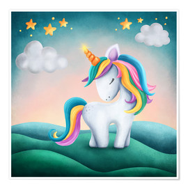 Premium poster Cute Unicorn