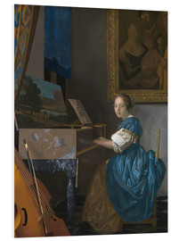 Forex  young woman seated at a virginal - Jan Vermeer