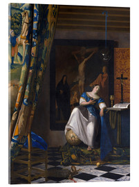 Acrylic print  The Allegory of the Faith - Jan Vermeer