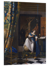 Foam board print  The Allegory of the Faith - Jan Vermeer