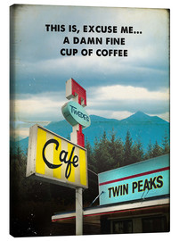 Canvas  Twin Peaks vintage - 2ToastDesign