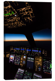 Canvas  Airbus A380 Cockpit Twilight - Ulrich Beinert