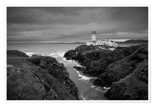 Premium poster Lighthouse in storm
