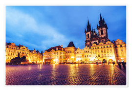 Premium poster Prague - Old Town Square