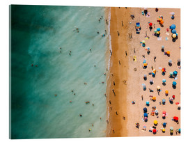 Acrylic glass  Aerial view of people at the beach in Portugal - Radu Bercan
