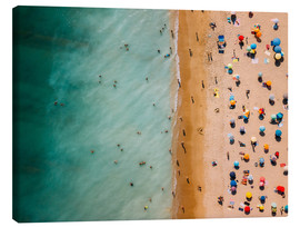 Canvas  Aerial view of people at the beach in Portugal - Radu Bercan