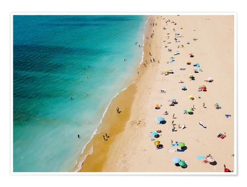 Premium poster Summer holidays on the beach in the Algarve