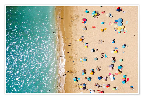 Poster Aerial View Of People In Summer Holiday