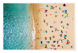 Premium poster Aerial View Of People on Summer Holiday
