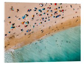 Acrylic print  Vacationers on the beach in Lagos, Portugal - Radu Bercan