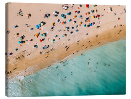 Canvas  Vacationers on the beach in Lagos, Portugal - Radu Bercan