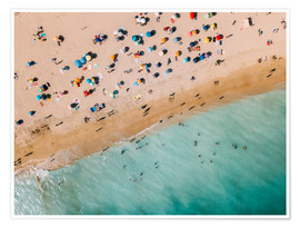 Radu Bercan - Vacationers on the beach in Lagos, Portugal