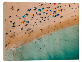 Wood  Vacationers on the beach in Lagos, Portugal - Radu Bercan