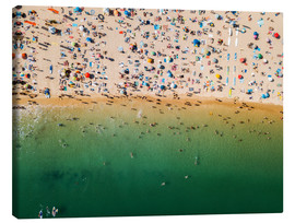 Canvas  Overcrowded sandy beach of Algarve - Radu Bercan