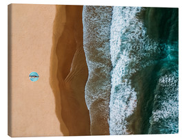Canvas print  Relaxing on a lonely sandy beach - Radu Bercan