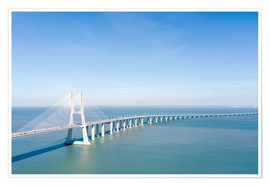 Poster  Vasco da Gama bridge to Lisbon - Radu Bercan