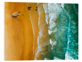 Radu Bercan - Turquoise ocean waves and tropical sand beach