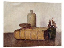 Acrylic print  still life with three books - Jan Mankes