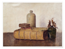 Poster still life with three books