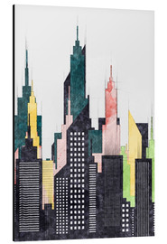 Radu Bercan - Colorful City Of New York City Sketch