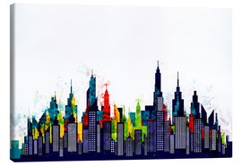 Canvas  New York City Abstract Skyline In Watercolors - Radu Bercan