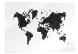 Acrylic glass  Map Of The World Sketch - Radu Bercan