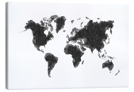 Canvas  Map Of The World Sketch - Radu Bercan