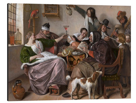 Aluminium print  As the Old Sing, So Pipe the Young - Jan Havicksz. Steen