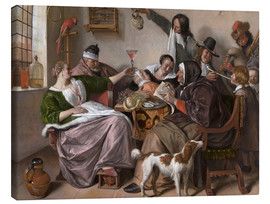 Canvas  As the Old Sing, So Pipe the Young - Jan Havicksz. Steen