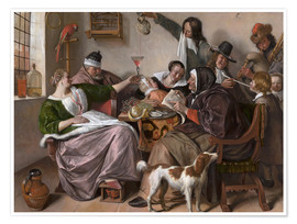 Premium poster  As the Old Sing, So Pipe the Young - Jan Havicksz. Steen