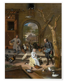 Premium poster  The chicken farm - Jan Havicksz. Steen