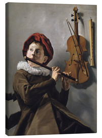 Canvas print  Boy playing the Flute - Judith Leyster