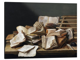 Alu-Dibond  Still Life with Books - Jan Davidsz de Heem