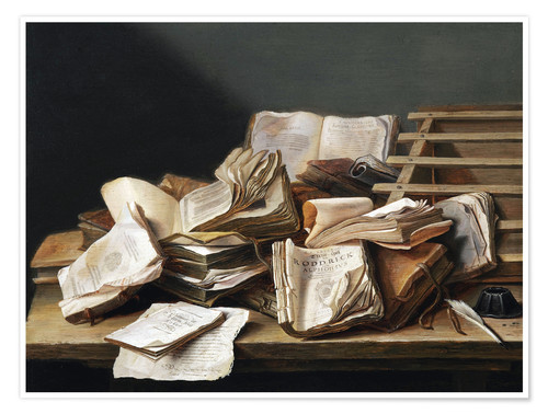 Premium poster Still Life with Books