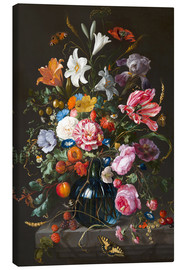 Canvas  Vase of Flowers - Jan Davidsz de Heem