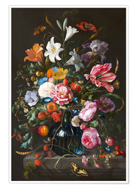 Poster  Vase of Flowers - Jan Davidsz de Heem
