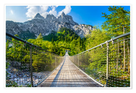 Premium poster Suspension bridge in Berchtesgaden National Park
