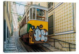 Canvas  Vintage Tram Ride In Lisbon City - Radu Bercan