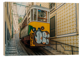 Wood  Vintage Tram Ride In Lisbon City - Radu Bercan
