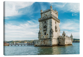 Canvas print  Belem Tower of Saint Vincent (Torre de Belem) In Lisbon - Radu Bercan