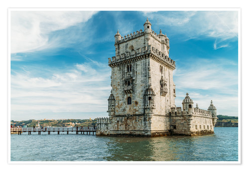 Premium poster Belem Tower of Saint Vincent (Torre de Belem) In Lisbon