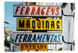 Acrylic glass  Colorful Vintage Store Signs In Lisbon - Radu Bercan