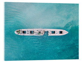 Acrylic print  Shipwreck In The Middle Of The Ocean - Radu Bercan