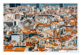Premium poster Lisbon City Rooftops In Portugal