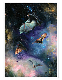 Poster  Scream of a Great Bat - Tanya Shatseva