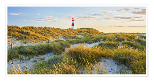 Poster Lighthouse Sylt