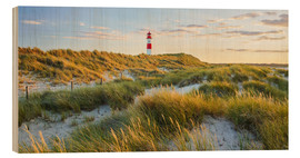 Wood print  Lighthouse in Sylt - Rainer Mirau