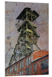 Foam board print  winding tower - Dieter Ziegenfeuter