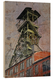 Wood print  winding tower - Dieter Ziegenfeuter